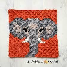 My Hobby Is Crochet Free Crochet Pattern Graph Elephant