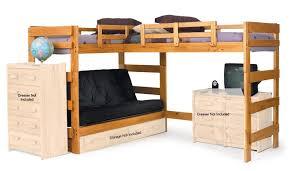 bunk bed with desk. HONEY L SHAPED FUTON LOFT BED Bunk Bed With Desk N