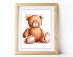 teddy printable wall art teddy bear print bear print nursery wall art playroom gender neutral drawing painting printable nursery art on teddy bear wall art for nursery with bear nursery wall art girly wall art teddy bear kidsroom