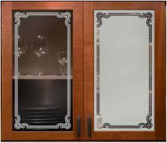 Florence Border Cabinet Glass Sans Soucie Art Glass Etched Kitchen
