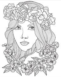 Beautiful Faces Coloring Page Colorish App Free Coloring App For