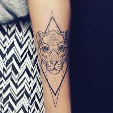 lioness with crown tattoo. Plain With Geometric Tattoo Of A Lioness Photo Pinterest In Lioness With Crown