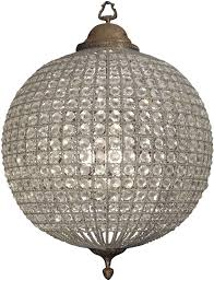 round antique brass chandelier crystal effect large