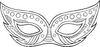 Mardi Gras Mask Geïsoleerde Overzichtselementen Kleurplaat Voor
