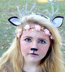 picture of chic deer makeup proper headbands and a simple costume for a deer look