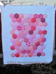 Hexagon Baby Quilt   Blue Square Quilting & And ... Adamdwight.com