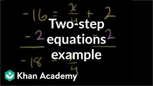 Worked Example Two Step Equations Algebra Video Khan