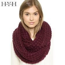Online Shop <b>HYH HAOYIHUI</b> Brand Knitting Scarf Women Solid 4 ...