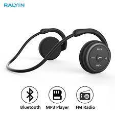 Ralyin Không Dây Mp3 Nghe Nhạc Tai Nghe Hỗ Trợ Thẻ Nhớ FM Radio Thể Thao  Thoải Mái Tai Nghe Bluetooth Chụp Tai Không Dây Tai Nghe MP3 Player