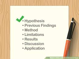 Research Paper Write How To Write A Medical Research Paper 12 Steps With Pictures