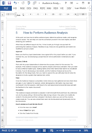 audience analysis example audience analysis template ms word excel free samples checklists