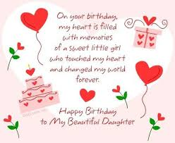 Happy Birthday Quotes For Daughter Mesmerizing Happy Birthday Wishes For Daughter From Mom