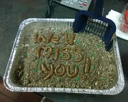 64 Hilarious Farewell Cakes That Employees Got On Their Last