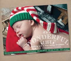 Personlized Photo Christmas Card Baby Announcement Christmas Card