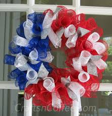 DIY Deco Mesh Patriotic Wreath