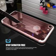 mirror iphone 7 plus case. rose gold luxury bling mirror case for iphone 6 6s plus clear tpu edge ultra slim iphone 7