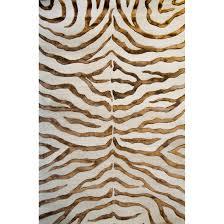 mercer41 dodgson soft zebra brown area rug