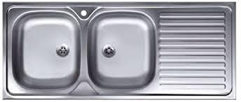 Lavello Cucina Due Vasche Con Gocciolatoio A Destra Acciaio Satinato 50x120 Cm Da Appoggio Amazon It Fai Da Te
