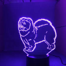 Yuvi Light Amazon Com Aoyuhf Chow Chow Light 3d Night Light Childrens