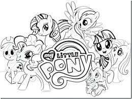 My Little Ponies Coloring Pages My Little Pony Sea Ponies Coloring