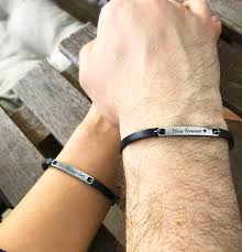 always and forever couple leather bracelet his and by begenuine
