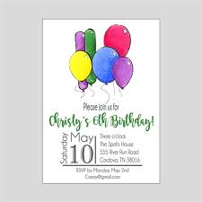 Balloon Birthday Invitations Balloon Birthday Invitations One Year Birthday Party