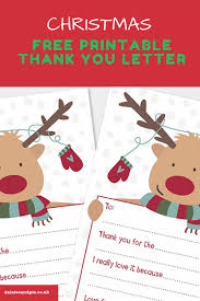 Free Printable Christmas Thank You Letters Daisies Pie