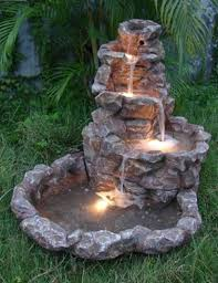 A Giant Solar Powered Backyard Water Fountain Is Sure To Please Solar Powered Water Feature With Lights