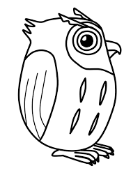 Free Printable Cute Owl Coloring Page
