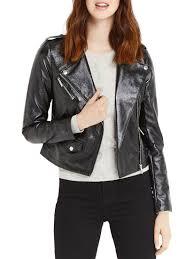 oasis women s black patent faux leather biker jacket