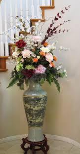 Silk Arrangements For Home Decor Tall Flower Arrangements For Home Flowers Ideas