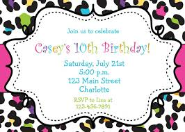 colorful cheetah background birthday party invitation template