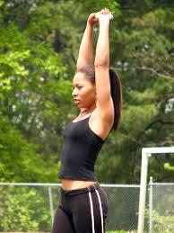 Sporty athletic teen girls