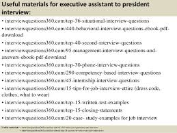 Interview Questions For Executive Assistants Top 10 Executive Assistant To President Interview Questions
