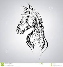 Silhouette Patterns Classy Silhouette Of A Horse In The Patterns Of Vector Illustration
