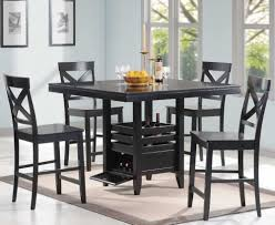 Square Pedestal Kitchen Table Dining Room Modern Black Counter Height Dining Room Set With