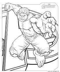 Avengers hulk coloring page from marvel's the avengers category. Marvel Avengers Hulk Coloring Pages Printable