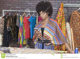 Black Clothing Designers Attractive African American Female Fashion Designer Using