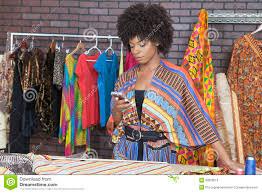 Black Fashion Designers Attractive African American Female Fashion Designer Using