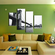 >4 piece canvas prints christmas gift abstract grey canvas wall art  4 piece canvas prints christmas gift abstract grey canvas wall art picture brooklyn bridge painting for