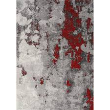 2 x 4 x small gray and red distressed area rug freemont