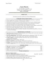 Linux Sys Administration Sample Resume Systems Administrator Cover
