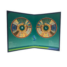 Integrated Iridology Desk Folding Chart Iris Chart