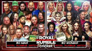 WWE Royal Rumble 2021 Official Match Card - YouTube