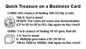 Treasure Chart 6 Random Treasure Tables You Can Memorize Blog Of Holding