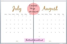 Free Calendars Admirably Calendar Templates Editable August 2015