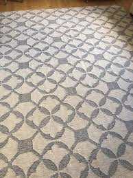 details about west elm tile wool kilim rug 9 x 12 platinum
