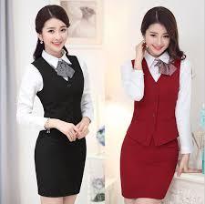las vest skirt fashion hotel reception uniform hotel front office uniform for receptionist uniform design ws592