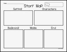 How To Plan A Story Template Story Map Freebie Kindergarten Writing First Grade