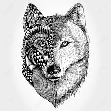 Drawn Wolf Hand Drawn Wolf Head Stylized Royalty Free Cliparts Vectors And